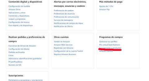 amazon cancelar suscripcion