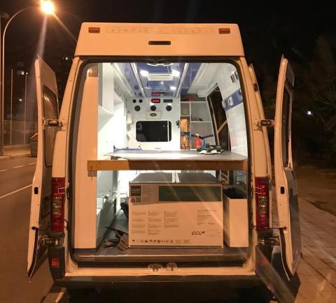 Imagen de la ambulancia de Pablo González.