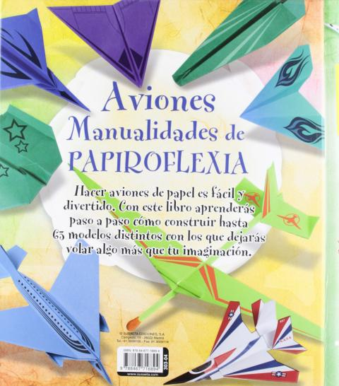 aviones manualidades papiroflexia