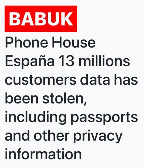 Babuk ataca a Phone House.
