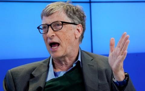 Bill Gates, en enero de 2021, en el Foro Económico Mundial de Davos (Reuters)