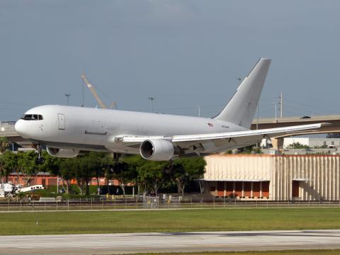Un Boeing 767-200, aunque no el avión de los fundadores de Google.