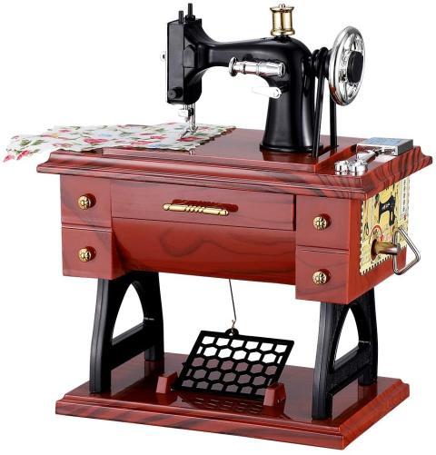 caja de música máquina de coser