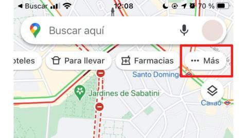 Categorías de Google Maps.
