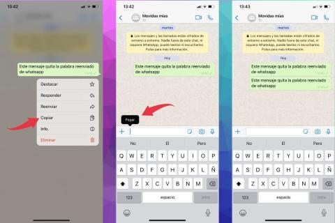 Cómo eliminar reenviado en WhatsApp