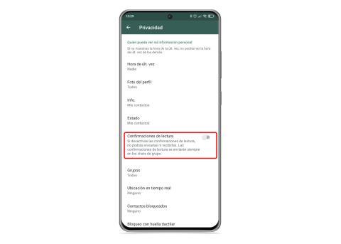 Confirmación de lectura whatsapp