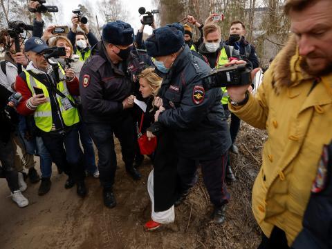 Detención de Anastasiya Vasilyeva, aliada de Alexéi Navalni (Reuters)