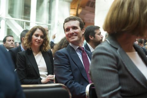 Díaz Ayuso y Pablo Casado en 2018, cuando todavía no era candidata.
