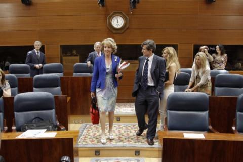 Esperanza Aguirre en la Asamblea de Madrid.