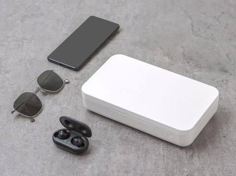 Un esterilizador UV de Samsung puede desinfectar tu móvil, auriculares, gafas y más.