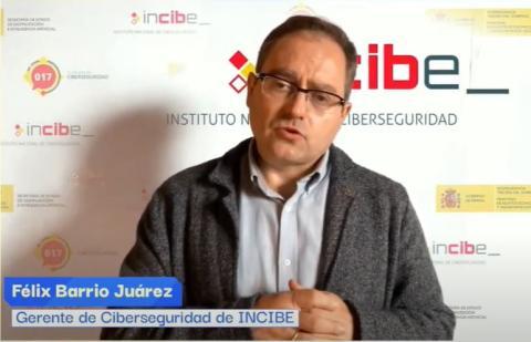 Félix Barrio Juárez, gerente de Ciberseguridad de INCIBE, durante su presentación.