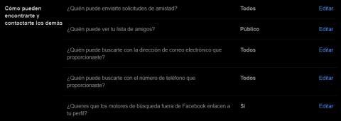 Forma de encontrar usuarios facebook