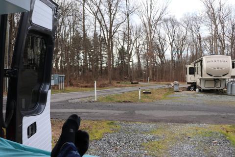 Vista del camping.