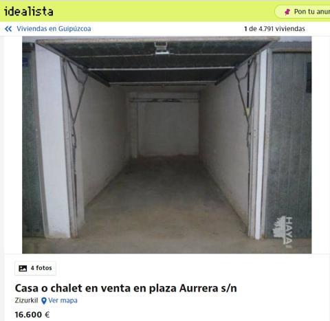 Guipúzcoa 16600 euros