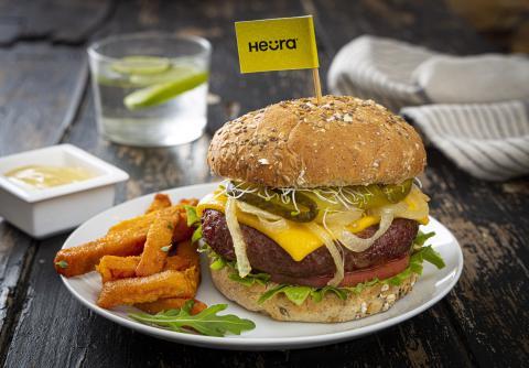 Hamburguesa vegetal de Heura Foods
