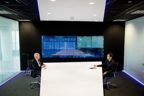 Hilario Albarracín junto a Manuel del Campo, CEO de Axel Springer España