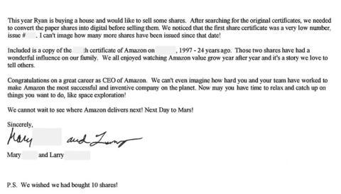 """Jeff Bezos admite que el nuevo CEO de Amazon no tendrá un trabajo fácil, pero confía en que su sucesor """"no permitirá que el universo nos convierta en típicos"""""""