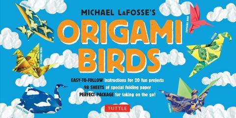 Kit de origami para pájaros