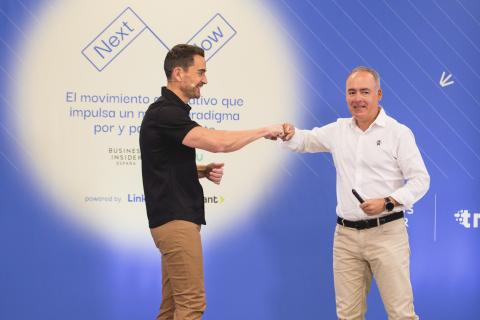 Manuel del Campo junto a Javier Rodríguez Zapatero, presidente de ISDI.