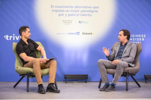 Manuel del Campo junto a Luis Ureta, country general manager de Globant en España.