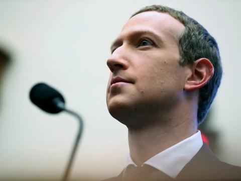 El CEO de Facebook, Mark Zuckerberg, en Washington DC, Estados Unidos, en octubre de 2019.