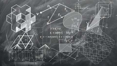 Matemáticas fórmulas pizarras