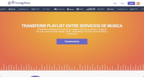 Mover playlist de un servicio musical a otro