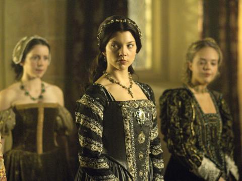 Natalie Dormer como Ana Bolena en 'Los Tudor'.