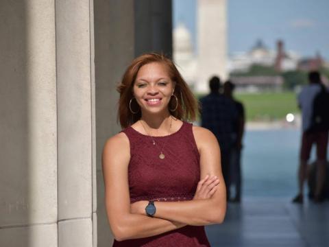 Noelle Carter, de 27 años, comenzó recientemente el curso de gestión de proyectos de Google.