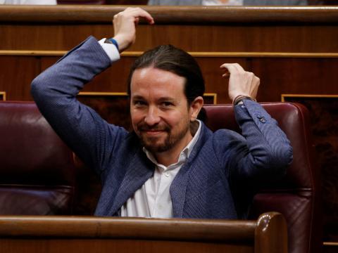 Pablo Iglesias, candidato de Podemos a la Comunidad de Madrid.
