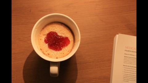 Pastel taza
