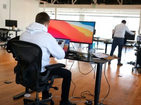 El primer día de una startup el pasado 24 de marzo en San Francisco, California.