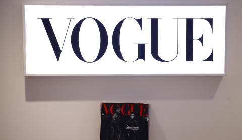 Portada de Vogue en la sede de Condé Nast en Londres