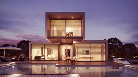 Puedes encontrar casa prefabricadas de hormigón –no tan espectaculares como la de la foto– desde 100.000 euros los 100 metros cuadrados (Pixabay)