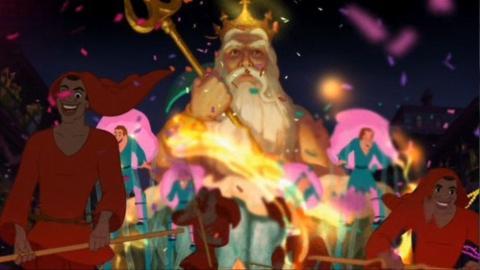 El rey triton tiana y el sapo