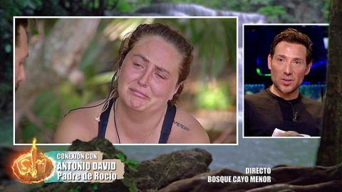 Rocío Flores habla con su padre en Supervivientes 2020 (Telecinco)