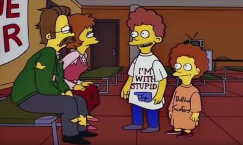 Los Simpson I'm with stupid