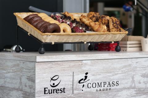 Un stand de desayuno de Eurest durante la Copa Davis de 2019