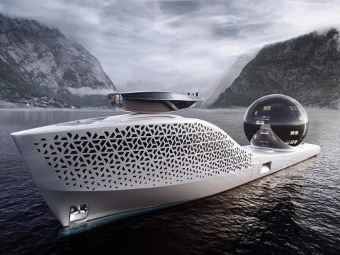 Diseño del superyate Earth 300.