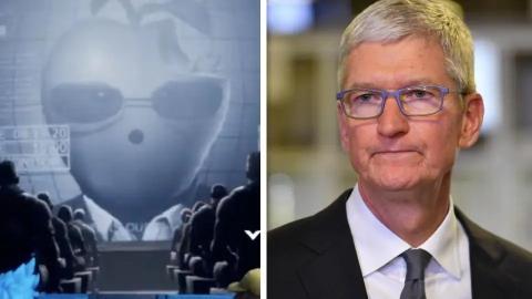 Una parodia del CEO de Apple, Tim Cook, a la izquierda, que apareció en un video transmitido en 'Fortnite'.