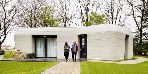 Una casa de hormigón impresa en 3D con Project Milestone.