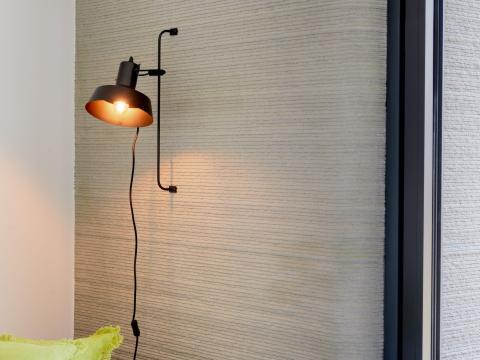 Interior de la casa de hormigón impresa en 3D con Project Milestone.