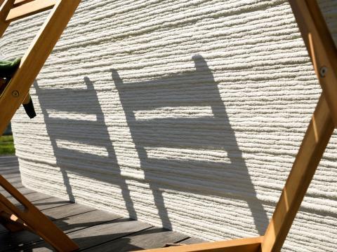 Casa de hormigón impresa en 3D con Project Milestone.