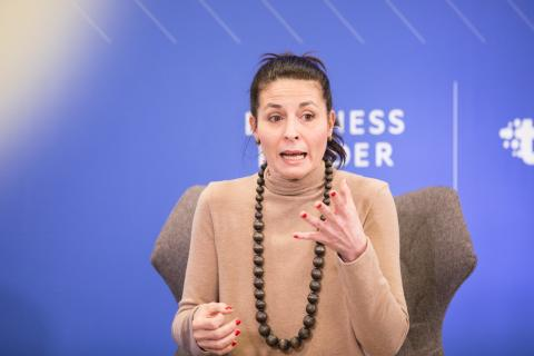Alba Herrero, directora de RRHH de SAP, durante su ponencia.