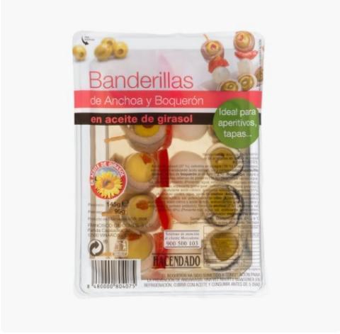 Banderillas de anchoa Mercadona