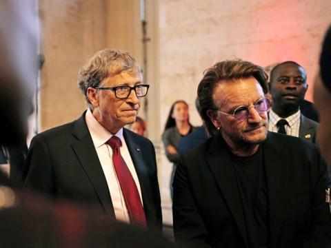 Bill Gates y Bono.