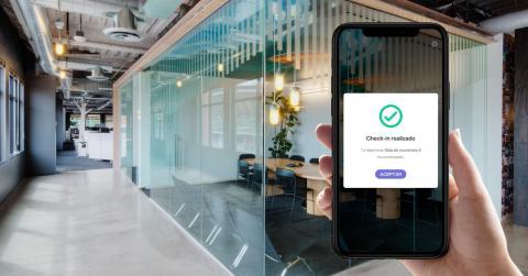 App de Bokkeer para reservar puesto de trabajo con realidad aumentada.