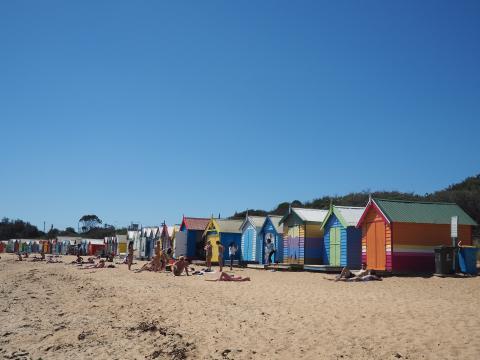 Bungalows en la playa