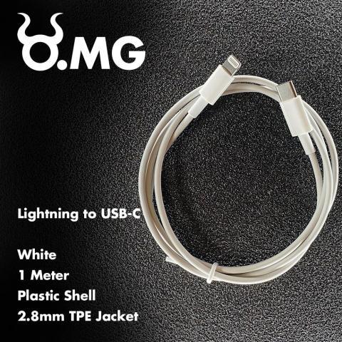 Cable O.MG que simula ser un adaptador Lightning a USB-C.