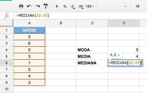 Calcular la Mediana en Excel